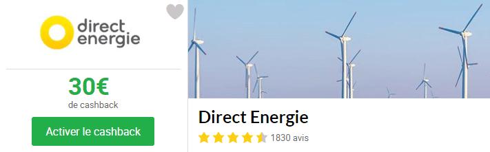 cashback direct energie